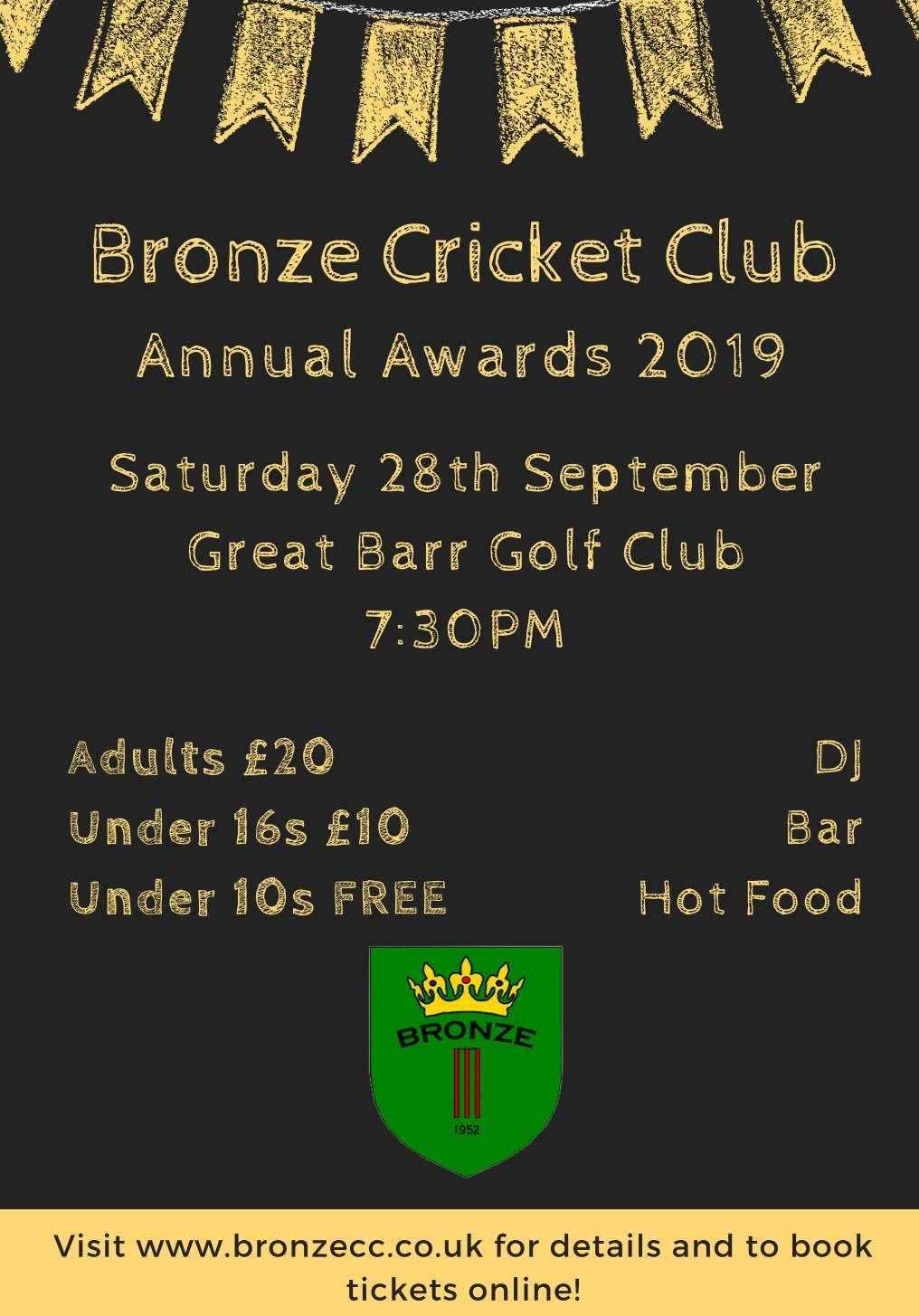 Bronze Cricket Club Annual Awards 2019