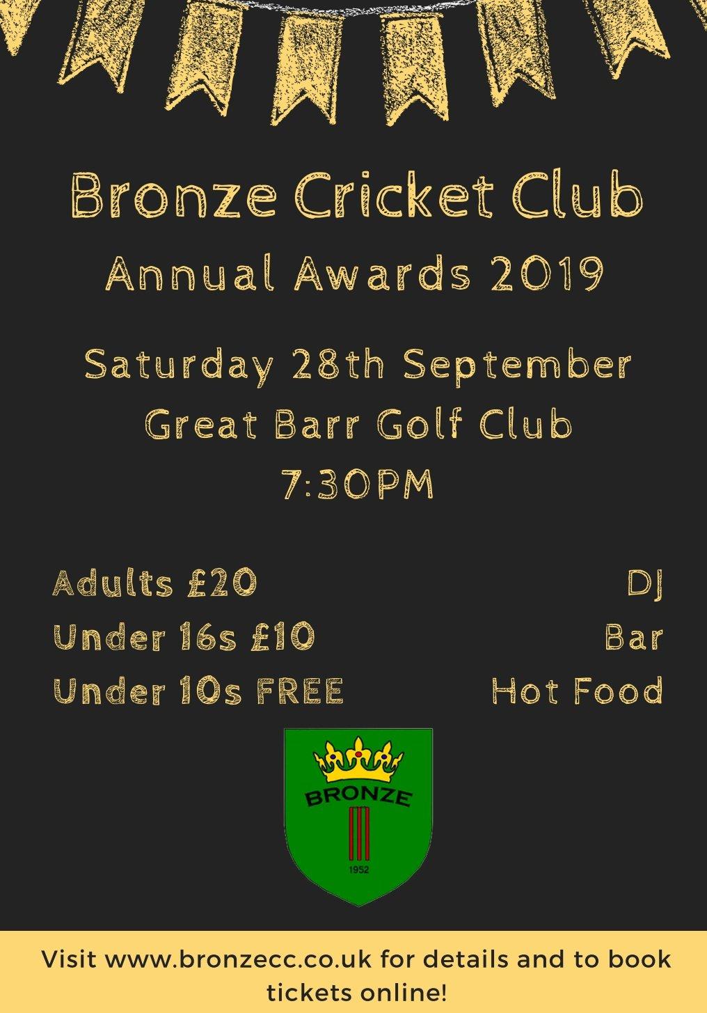Bronze Cricket Club Annual Awards 2019