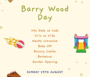 Barry Wood Day - Sunday 29th August